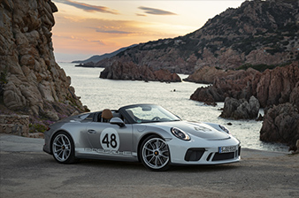 Press Launch 911 Speedster, Sardinia